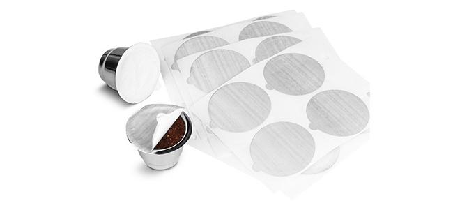 aluminiumforslutAluminium/klisterlappar till kaffekapslar