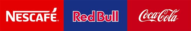 Logga Nescafe, Red Bull & CocaCola