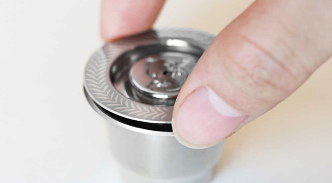 Metallkapsel till Nespresso med skruvkork