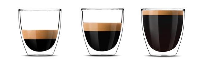 J'mförelse - skillnad mellan Lungo, Espresso coh Ristretto