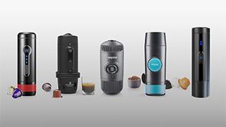 Bärbara kapselmaskiner för Nespresso och Dolce Gusto